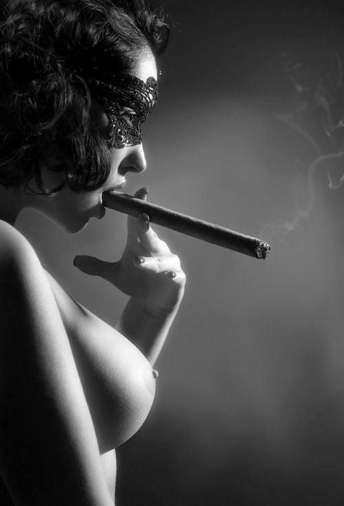 Cigar smoking fetish females