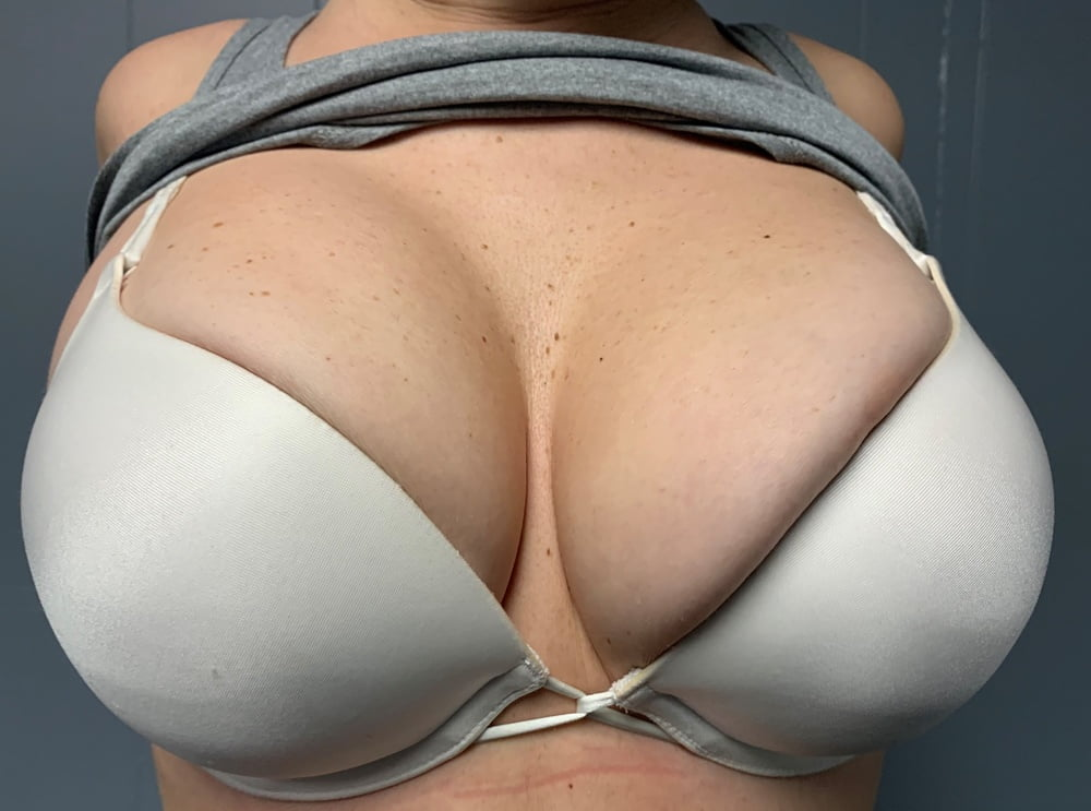 Your girlfriend's bra is too small for me