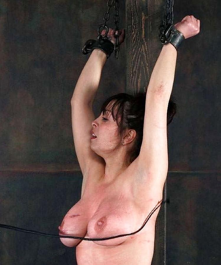 Bikini wax bondage naked woman whipped on full length retro