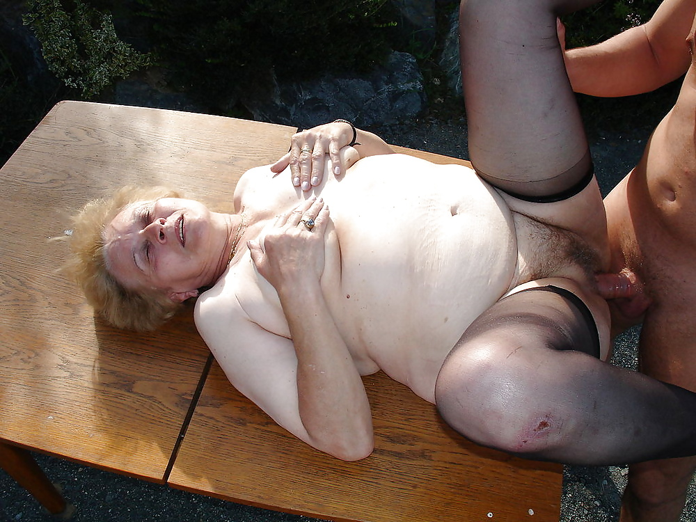 Very old granny fucks young girl