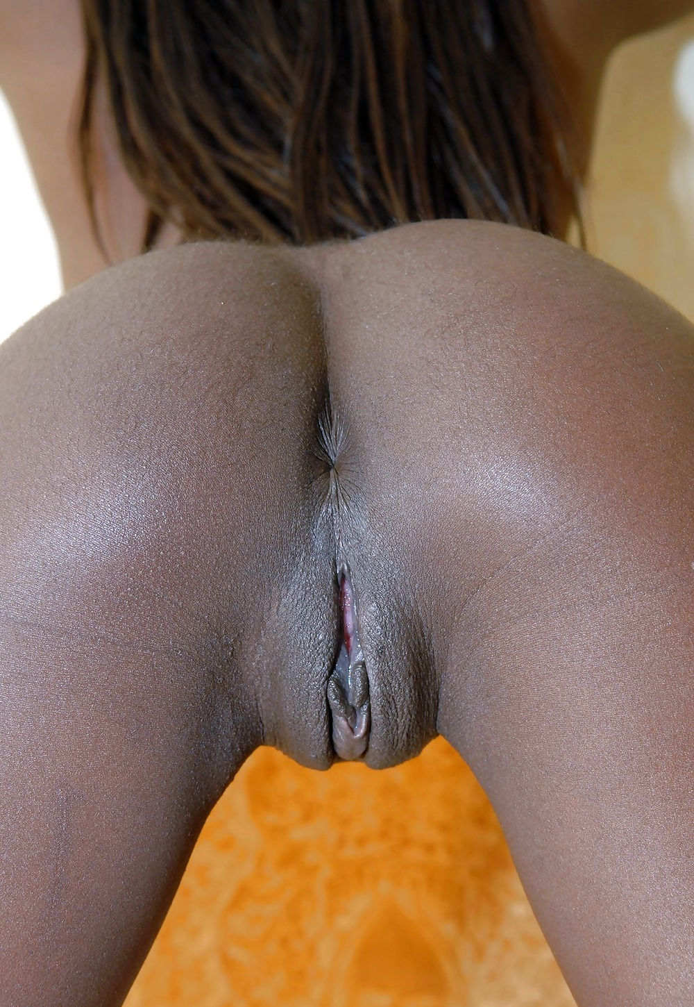 Ebony big black pussy vulva with long labia nude girls pictures