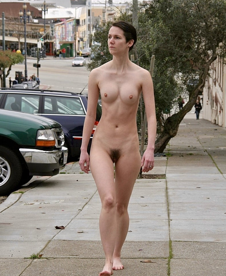 Walking with my naked girlfriend