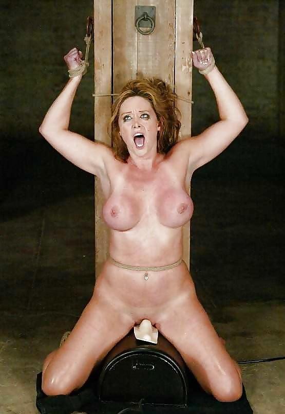 Suspended bondage sex