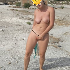 Wife Outside Naked, Blowing And Sex In Vacation.