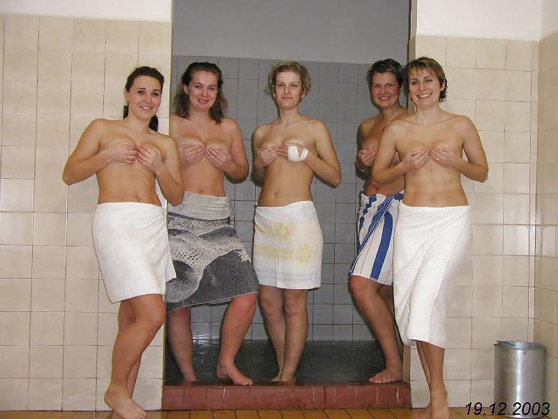 Teen boys shower together-9837