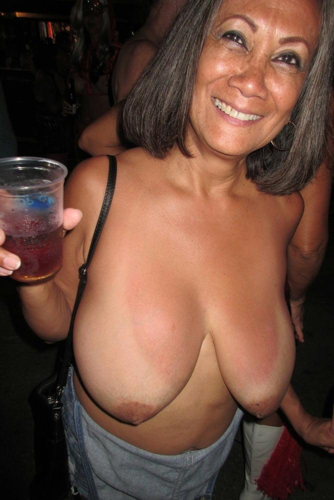 Topless ladies beach