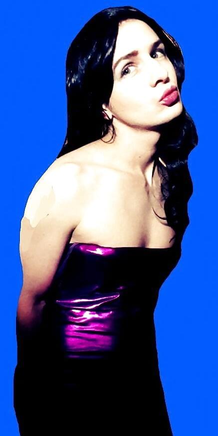 purple Sissy dress clit