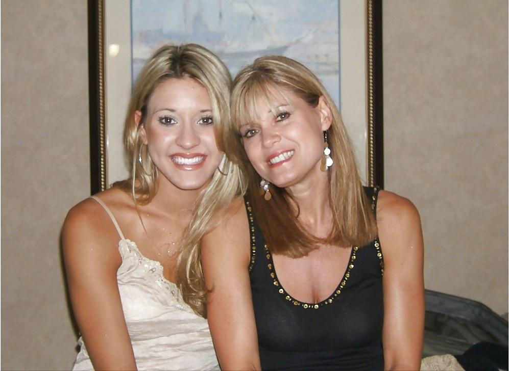Lesbian milf mom daughter