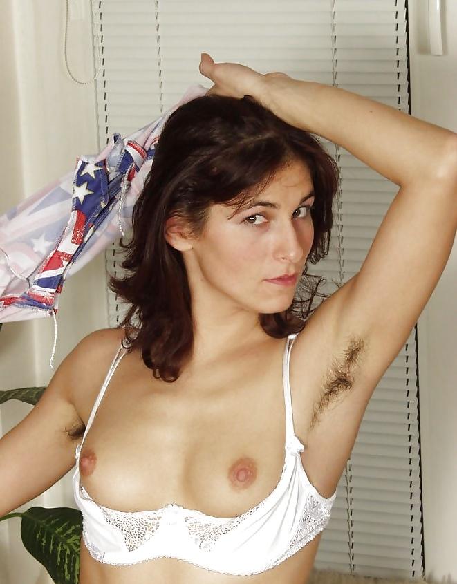 Hairy armpit lady