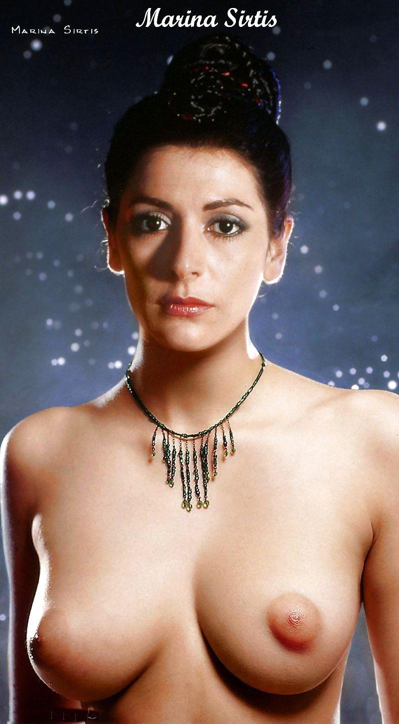 Marina Sirtis Deanna Troi Star Trek Fake Nude
