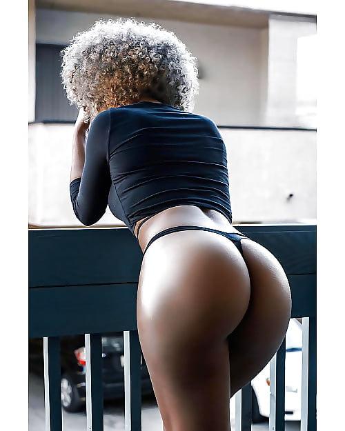 Big black booty double penetration