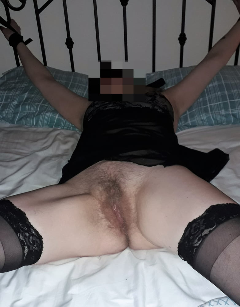 Wife tied up and used by husband and friends - 8 Pics
