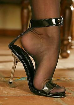 and nylons heels High
