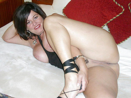 Wet shaved pussy in nylon stockings