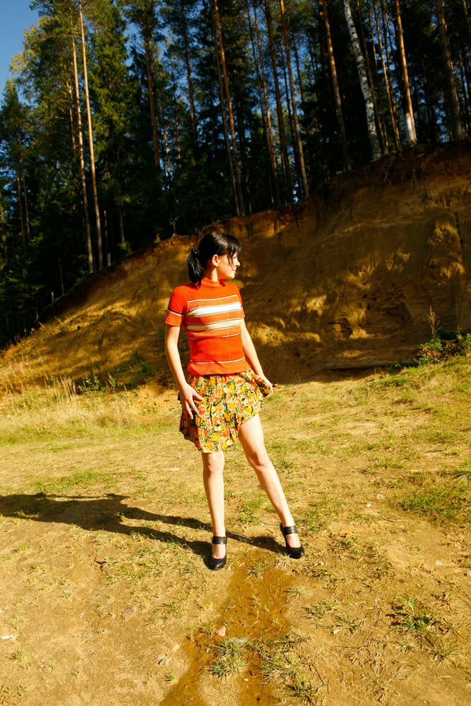Taking A Lengthy Piss In The Great Outdoors Wearing Heels- 30 Pics