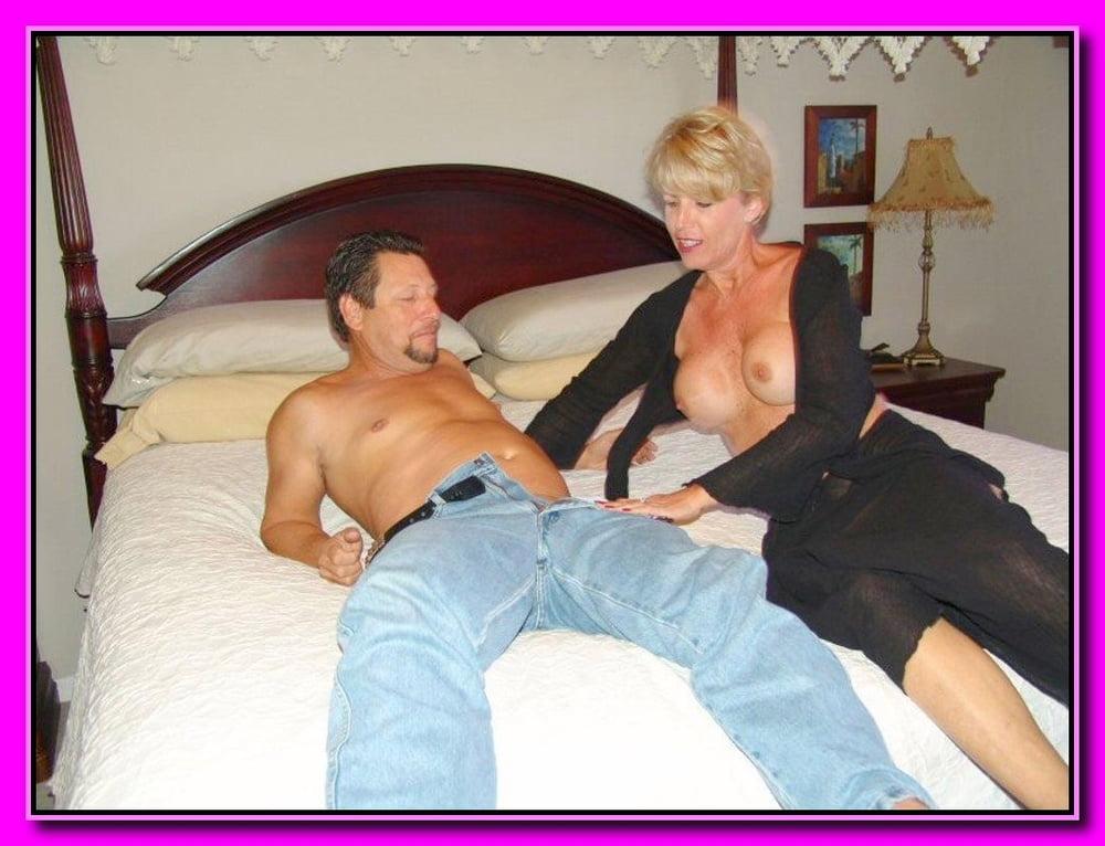 Milfs fool around on husbands bed