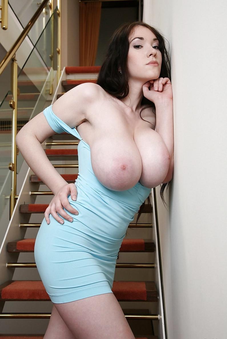 Huge big tits dildo solo