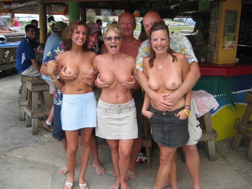 Group of big tit mature women getting