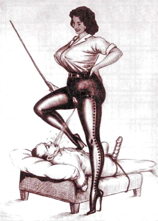Porn female domination bondage drawings