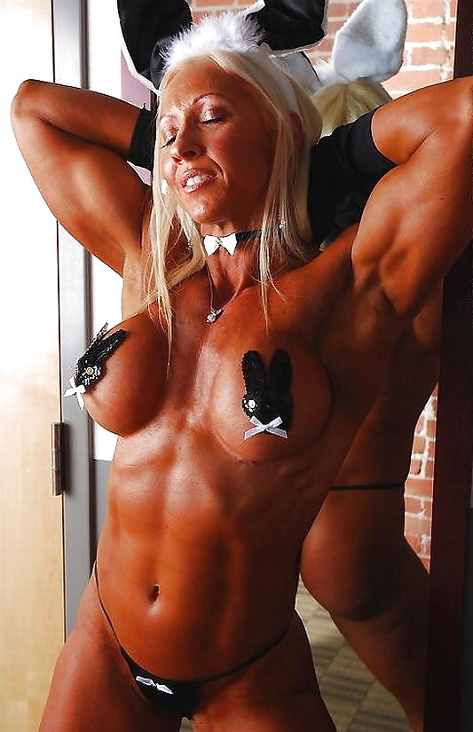 Halloween nude bodybuilders, three tits and two dicks