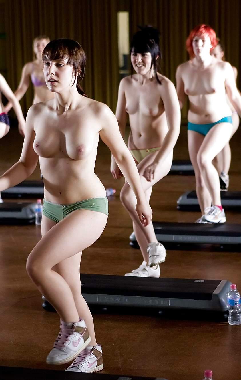 Aerobic class nude