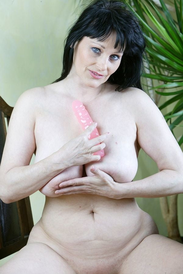Older women riding dildo