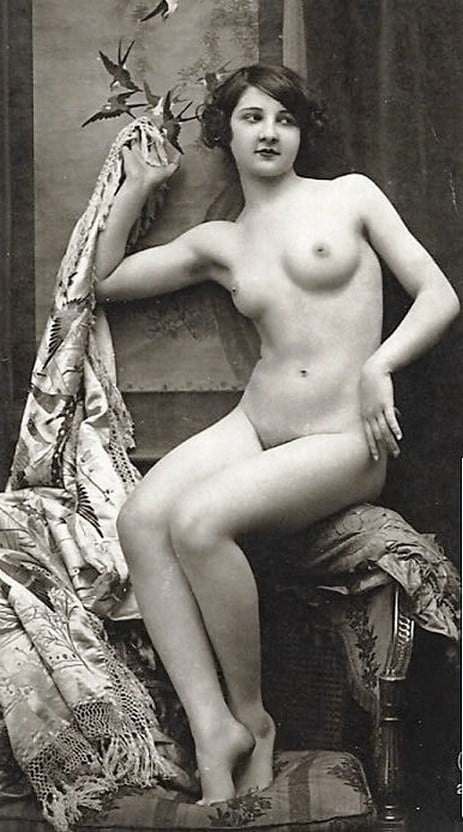 Vintage French Nude Postcard Bed