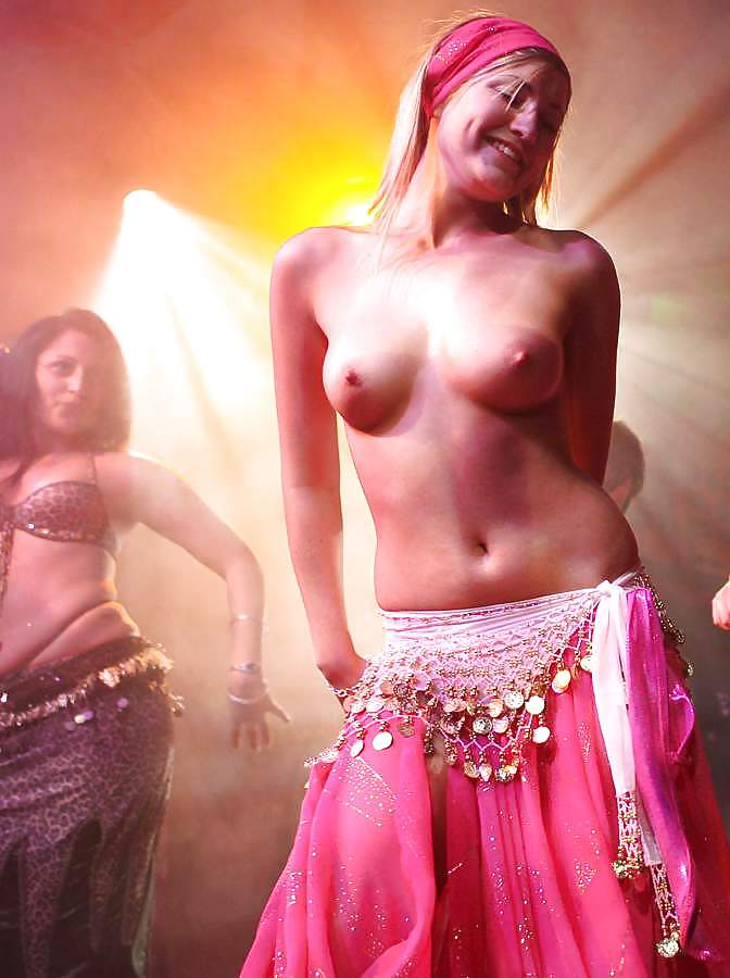 Hot belly dance nude open show in public