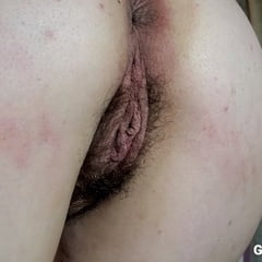 Mature Hairy Wife Showing Her Pussy And Ass From Behind