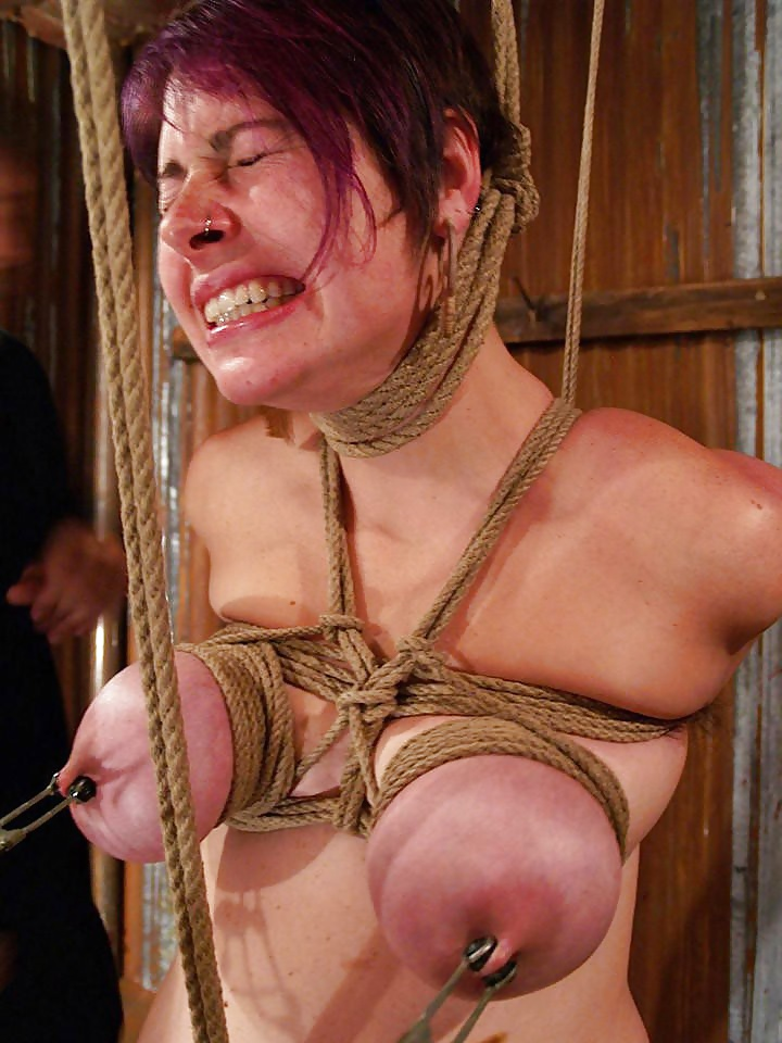 Fat torture her tits