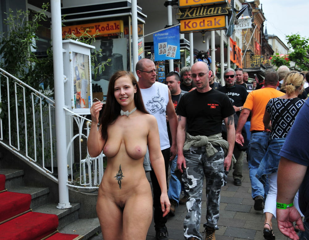 Forced naked in public