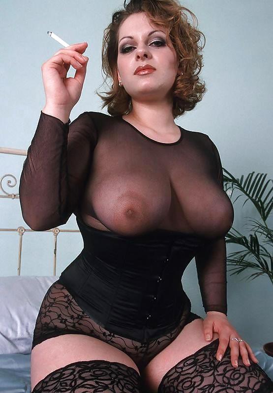 Huge tits smoking fetish