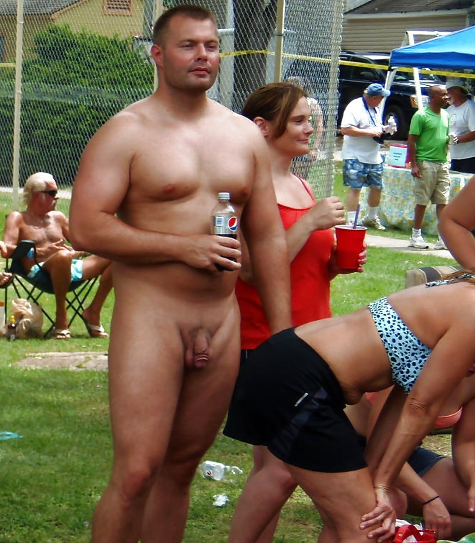 Man with sexy nude women