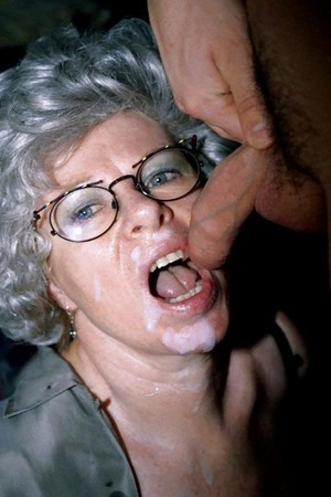 grannies covered in cum