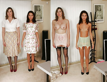 mother daughter dressed and undressed