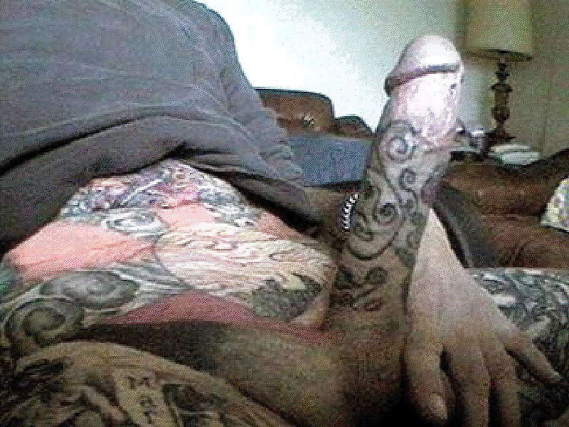Your name and the playboy bunny tattooed on a penis