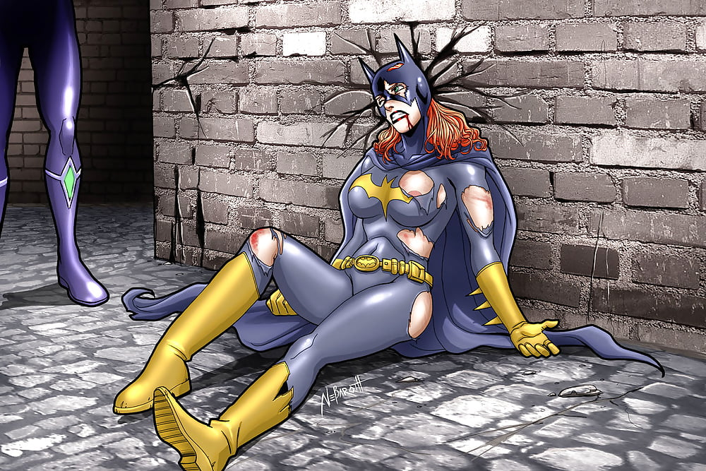 Batgirl's character in arkham knight going through the wash