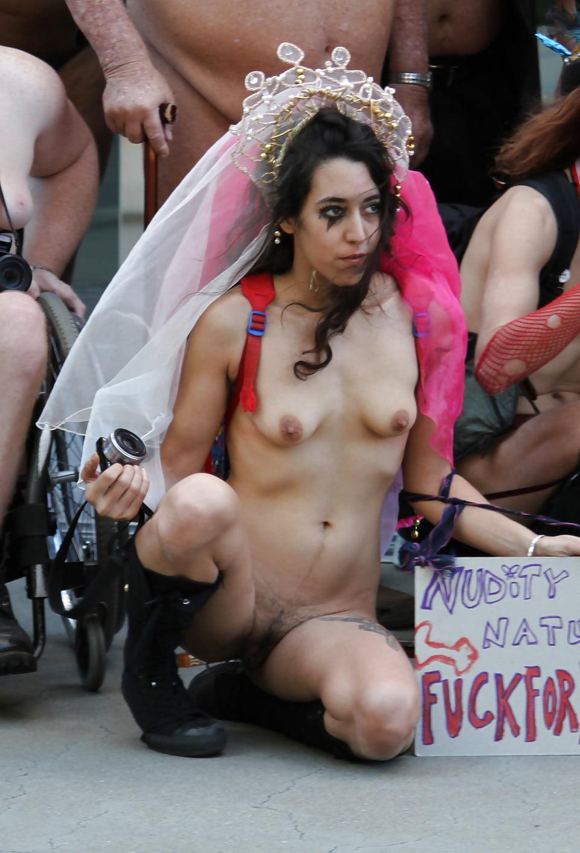 Sex at a nude parade