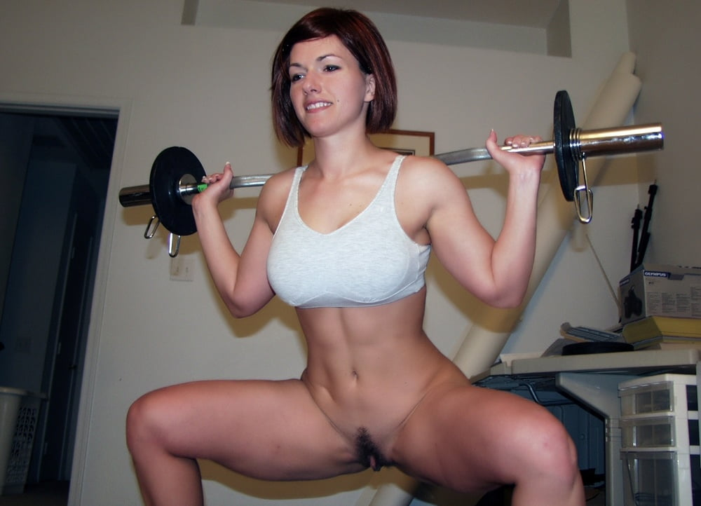Nude Asian Girl Lifting Weights