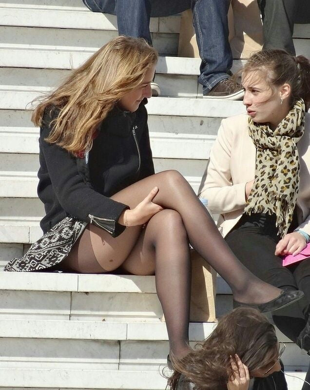 Upskirt garters and stockings