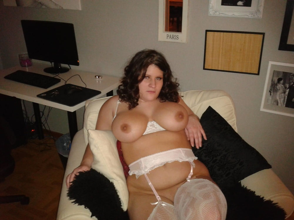 Curly chubby chick feeling horny during-3177