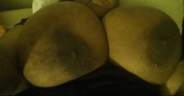 Big black tits flash-8990