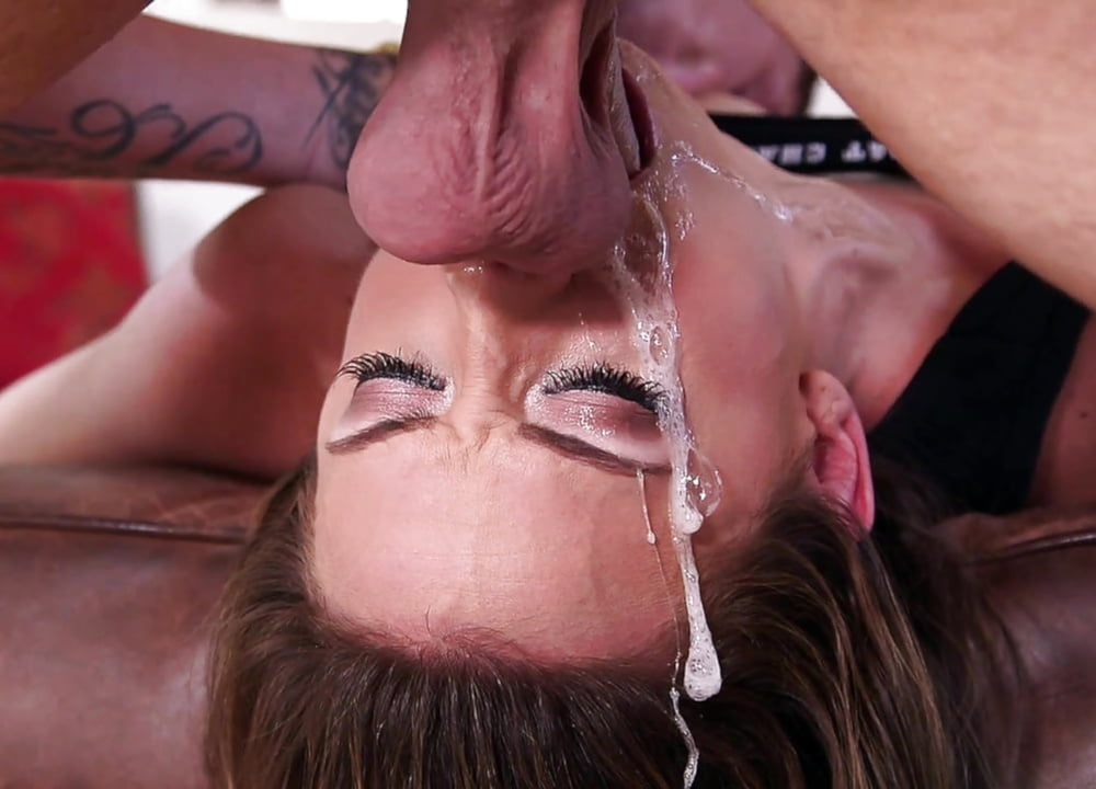 Watch Sexy Milf Gags On Huge Cock