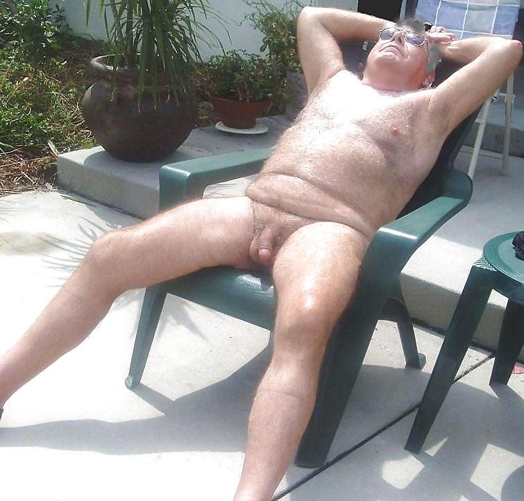 Gay Oma Nylon Massage