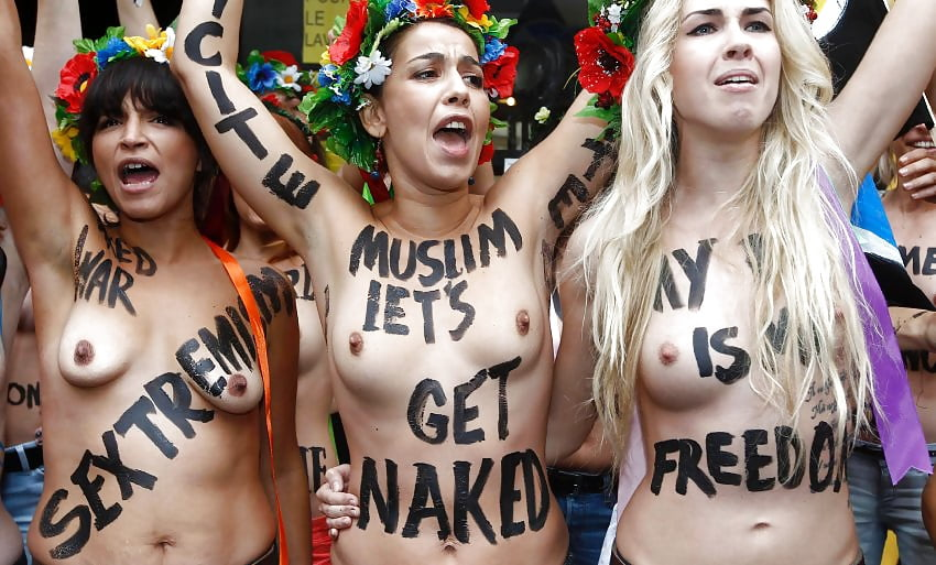 Women show their support for donald trump by posing topless and in barely
