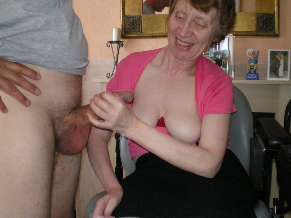 Grandma giving good handjob 1