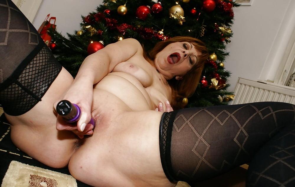 Christmas bbw mature granny