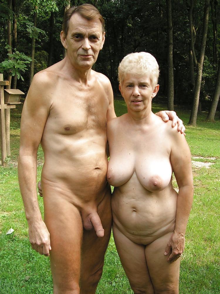 Couples naked outside