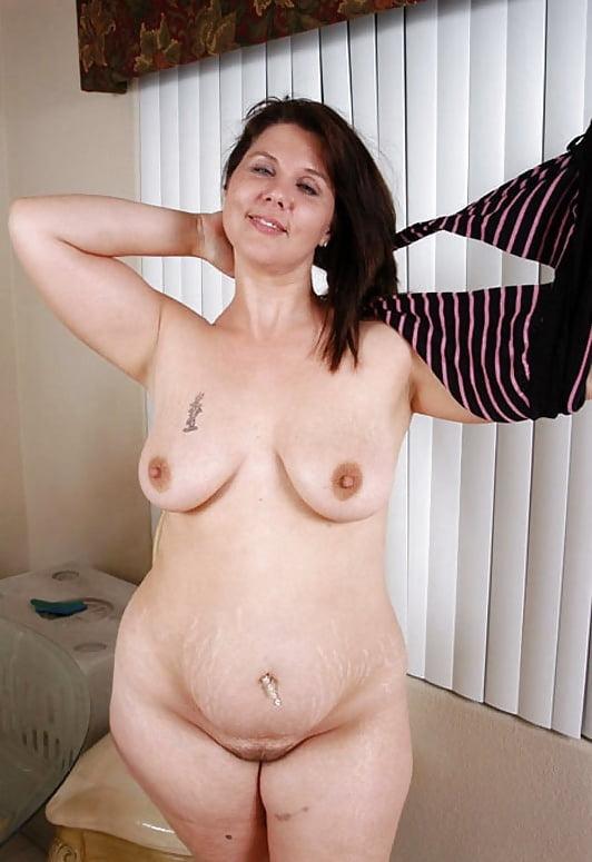 Mature potbelly women