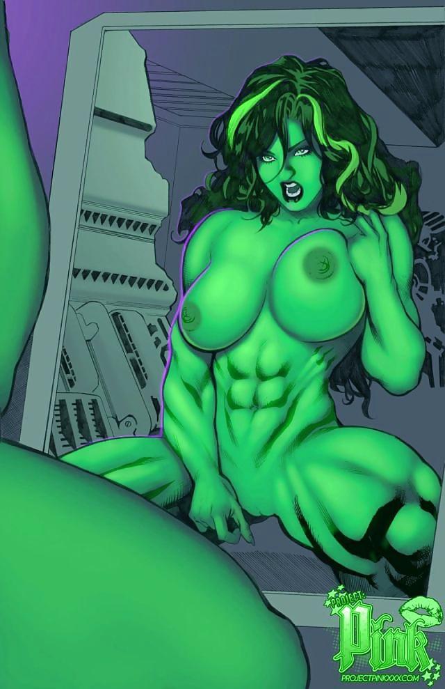 The hulk having naked sex